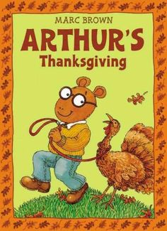 """I bought this for G at a garage sale when he was two... We read it every year. He used to call it """"Arthur Chickens"""". . Now we read it together to Care... Or maybe she will read it to us this year. Kids Corner, Favorite Holiday, Thanksgiving Books, Thanksgiving Activities, Disney Thanksgiving, Children's Books, Fall Books, Reading Activities, Preschool Activities"""