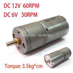 NEW 12V  DC  motor 60RPM  powerful high torque gear box motor  gearmotors 60rpm  12v dc free shipping