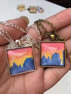 A personal favorite from my Etsy shop https://www.etsy.com/listing/400620931/square-sunset-asheville-city-skyline