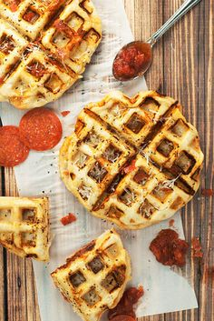 Pepperoni Pizza Waffles | 19 Insane Pizza Mashups That Are Delicious AF