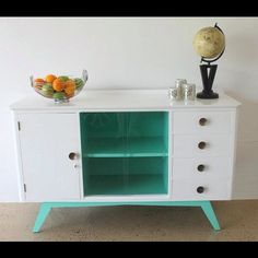 This stunning sideboard has been reworked we have now found it a new home; love giving furniture a new lease on life! More coming soon xx - Modern Furniture 1950s Furniture, Mid Century Furniture, Repurposed Furniture, Painted Furniture, Modern Furniture, Mid Century Decor, Retro Home Decor, Modern Retro, Eclectic Decor