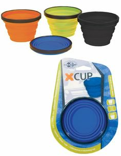 Sea To Summit X-Cup (Orange, 8.3-Ounce/250 ml) Unbreakable, folds flat for compact packing. Food grade flexible silicone. Calibrated as a measuring cup. Volume: 1 cup (250 ml), Weight: 1.6 - Ounce (45g).  #Sea_to_Summit #Sports