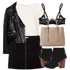 Untitled #5213 by laurenmboot on Polyvore featuring Topshop, MANGO, Agent Provocateur, Jeffrey Campbell, women's clothing, women's fashion, women, female, woman and misses