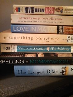 """""""Love's Journey"""" - Never been kissed / Someday my prince will come / Love in Maine / Something borrowed / The wedding / Mommywood / The longest ride #butlerbookspine"""