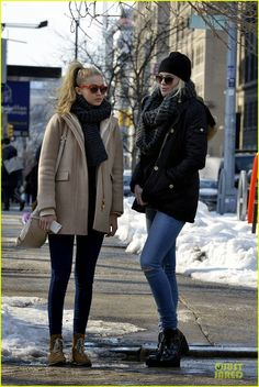 Ireland Baldwin with Gigi Hadid out and about in New York