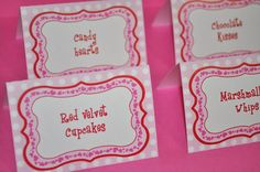 12 Girls 1st Birthday Food Label Tent Cards  by sosweetpartyshop, $10.00