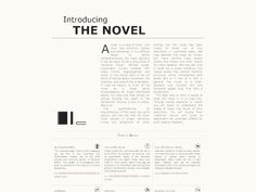 Introducing The Novel