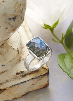 Denim Dreams Ring - denim blue labradorite and sterling silver ring.