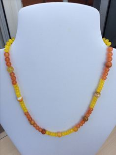 Orange and Yellow Quartz with Banded Agate