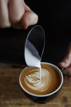 It takes a lot of practice to be able to pour latte art. You can tell this person knows what's up!