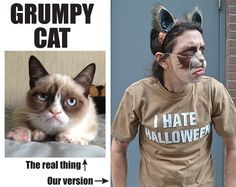 Grumpy Cat #DIY #Halloween #grumpycat