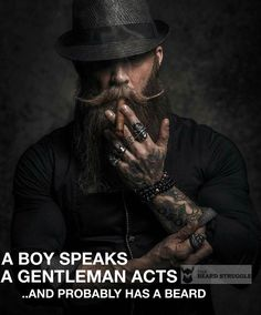 "2,710 Likes, 16 Comments - The Beard Struggle™ (@thebeardstruggle) on Instagram: ""A bearded gentleman acts... @booze_baccy #thebeardstuggle #gentlemensclub #beardedlifestyle…"""