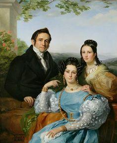Southern Folk Artist & Antiques Dealer/Collector: François-Joseph Navez Portrait of Théodore Joseph Jonet and his family, 1832