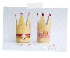 Prinzessin Krone - ganz simpel aus einer Toilettenpapierrolle / Princess Crown out of toiletpaperroll