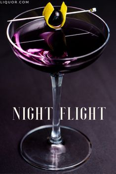Night Flights Mix the vesper recipe with an aviation recipe and you get the perfect cocktail. This gin drink is also a vodka drink so there's no need to choose which fun recipe to make tonight! – Cocktails and Pretty Drinks Types Of Cocktails, Purple Cocktails, Fruity Cocktails, Vodka Drinks, Alcoholic Drinks, Winter Cocktails, Fancy Drinks, Easy Cocktails, Drinks Alcohol