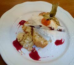 Lemon sponge dessert at King's Arms Hotel,  Melrose in the Scottish Borders