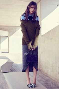 The December 2016 issue of Glamour Mexico puts the focus on statement fashion with this editorial. Model Anisia Khurmatulina poses for Vladimir Marti in the… Fashion Photography Inspiration, Photoshoot Inspiration, Glamour Shoot, Glamour Magazine, Knitwear Fashion, Equestrian Outfits, Eclectic Style, Fashion Outfits, Womens Fashion