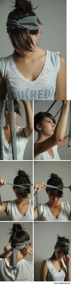 10 formas de usar lenço na cabeça com tutorial   http://nathaliakalil.com.br/10-formas-de-usar-lenco-na-cabeca/