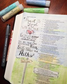 """""""Trust in the LORD with all your heart and lean not on your own understanding. In all your ways acknowledge Him and He will make straight your paths."""" - Proverbs 3:5-6  This is my first time using Faber Castell Gelatos and I have to say they are great! #hisgraceaftergrace http://ift.tt/1KAavV3"""