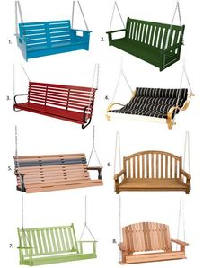 One of my favorite memories of the summers of my youth was sitting on my best friend's porch swing, lazing away the day while gently rocking back and forth. As an adult, I don't have a front porch but (Diy Pallet Swing) Backyard Swings, Backyard Seating, Outdoor Seating, Porch Swings, Garden Seating, Outdoor Hammock, Backyard Ideas, Tree Swings, Garden Swings
