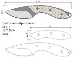 Чертежи ножей 10 вариантов (ст.12)