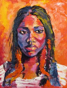 "Custom Acrylic Portrait 11"" x 14"", by Sasha Mirzoyan on Etsy, $150.00"