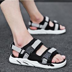 Sandals Spring Mens Open Toe Breathable Buckle Summer Leisure Sport Sandals Shoes Vogue Attractive And Durable