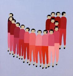 Painter Santiago Salvador Ascui Creates Colorful Figurative Patterns Mimicking Conformity