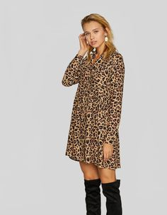 f32f46e567e0 Φόρεμα σεμιζιέ animal print - Νεες Αφιξεις