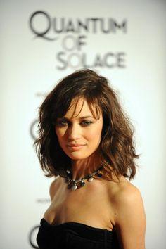 Haircut - bangs, texture (high forehead?) Olga Kurylenko