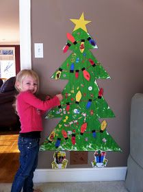 Life Sprinkled With Glitter: Craft: Finger Painted Christmas Tree
