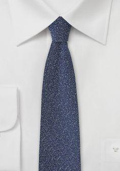 Businesskrawatte marmoriert nachtblau Wolle