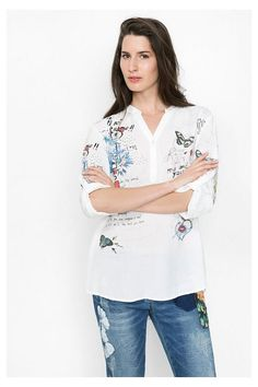 Pinterest Lino Moda Strass Camiseta Desigual De Mujer Con Fqn7xR0ptw