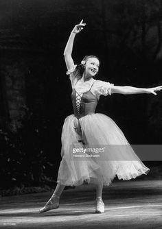 Soviet ballerina Galina Ulanova dancing in title role of ballet Giselle at the Bolshoi theater.