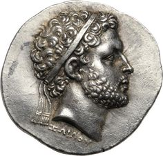 "Kings of Macedon, Perseus.Obverse: Signed ΖΩΙΛΟΥ below portrait on obverse, meaning ""Of Zoilos. Antique Coins, Objets Antiques, Ancient Greek Sculpture, Coin Art, Gold And Silver Coins, Ancient History, Greek History, Greek Art, Ancient Greece"