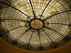 Anderson County Courthouse Stained Glass Dome : The Portal to Texas History