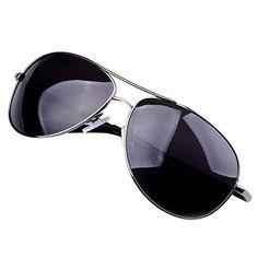 1d0b5c180e0ea Tangda gafas de sol polarizadas para hombre con lentes de efecto espejo  estilo piloto- negro