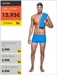 Conjunto #natación hombre #Nabaiji #Decathlon #vueltaaldeporte