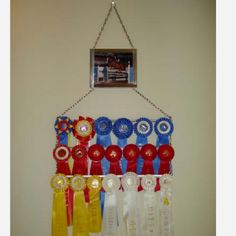 A clever way to display your award ribbons