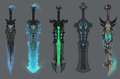 Frost Death Knight Swords from World of Warcraft: Legion