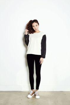 Sleeve Stripe Color Top