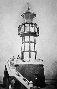 Faro del Castillo del Morro, San Juan, PR 1873 - This lighthouse was destroyed during the bombardment of San Juan in May of 1898. The current one was the replacement of this structure.