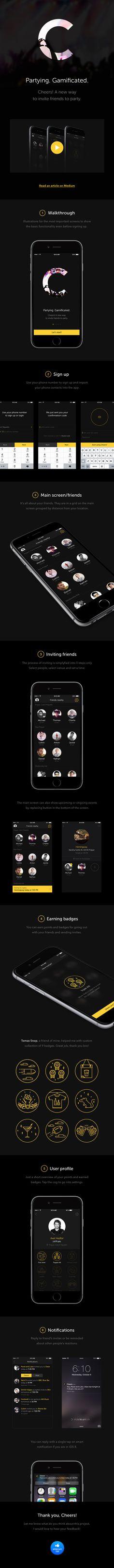 Unique App Design, Cheers #App #Design
