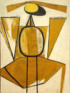 'Personage, with Yellow Ochre and White' (1947) by Robert Motherwell