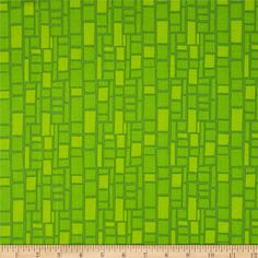 On The Go! Building Windows Lime Green from @fabricdotcom  Designed by Arrolynn Weiderhold for Wilmington Prints, this cotton print is perfect for quilting, apparel and home decor accents. Colors include shades of lime.