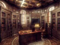 Steampunk/Gothic office