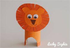 Lion en rouleau de papier toilette