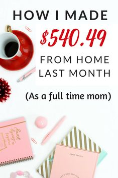 Fast and easy ways for a stay at home mom to make money at home! These legit ideas to make money online are perfect side hustles to make a passive income in 2018. Simple ways to use your smartphone, create a business, and start a blog + blog income report from December 2017. #makemoneyonline blogging #sidehustle #makemoneyblogging