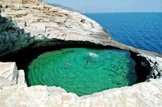 a natural pool. thassos island, greece. yes, please!