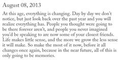 and memories will fade, so if you want them there, keep them there!